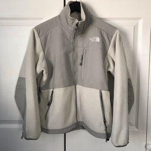 North Face Denali Fleece Jacket White/Gray Small
